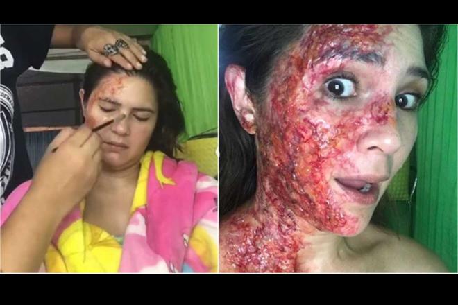 LOOK! Vina Morales, ipinasilip kung paano ginawa ang prosthetics niya sa Araw Gabi